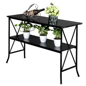 Steel Frame Console Table Modern Sofa Accent Shelf Stand Entryway Hall Furniture