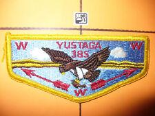 OA Yustaga Lodge 385,S15,1970s Osprey Flap,YEL F/RE,PreFDL,Gulf Coast Council,FL