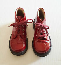 TODDLER Elefanten Euro Size 26 / US 9.5 DOC MARTENS Boot Patent Leather RED