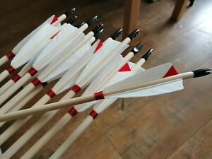 wooden longbow arrows set of 12 last orders end for this year 17th Oct.