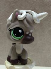 Littlest Pet Shop SPOTTED GRAY HORSE UNICORN #1820 w/ green eyes SHIPS FREE