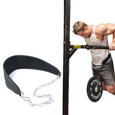 P N Dip Belt Nylon Neoprene Heavy Duty Chain Weight Lifting Gym Dip Belt For Pull ups Weightlifting Bodybuilding Gym Fitness Workout Strength Training Exercise Powerlifting Crossfit