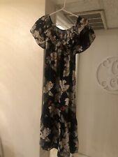 Long Hawaiian Floral Dress Size S Made In Hawaii