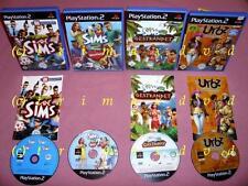 4xPS2 _ Die Sims & Die Sims 2 Haustiere & Gestrandet & Die Urbz Sims in the City