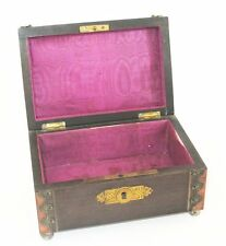 ANCIENNE BOITE A BIJOU COUTURE 1900 ANTIQUE JEWELLERY JEWELRY OR SEWING BOX