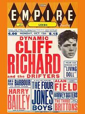 "Cliff Richard and the Shadows Leeds Empire 16"" x 12"" Photo Repro Concert Poster"