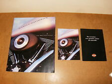 Lot de 3 catalogues HARLEY DAVIDSON 1999 MOTORCYCLES (DYNA GLIDE + SPORTSTER...)
