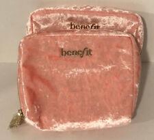 New❤2PC❤BENEFIT ❤ Pink velvet cosmetic bag ❤Zip Makeup Bag❤ 7