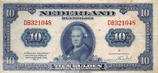 Nederland - Netherlands 10 Gulden 1943 II Wilhelmina Pn 44-1 DB321048