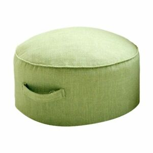 Thick linen floor footstool-Japanese oversized circular footrest pouf