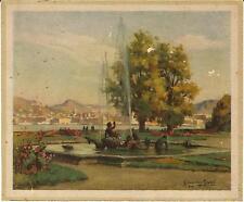 Stampa antica COMO vista da Villa Olmo lago di Como 1935 Old antique print