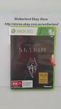 The Elder Scrolls V SKYRIM + Booklet & Map XBOX 360 LIKE NEW, FREEPost....8257