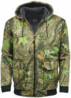 Men's Camouflage Tree Print Camo Bomber Padded Jacket Hunting Fishing Outdoor UK