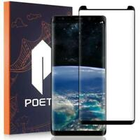 Tempered Glass Screen Protector For Galaxy Note 8,Poetic® Ultra Thin Cover Black