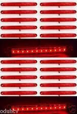 20x 24V ROSSO post. 12 LED luci di posizione laterali Lampadina per