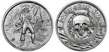 2 Unzen Silber Medaille Münze Kapitän, Captain, Totenkopf