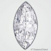 1.25ct. D-SI3 Ex Cut Marquise Shape AGI Certified Diamond 10.71x5.65x3.34mm