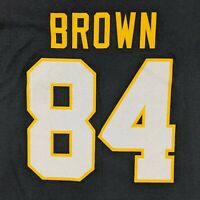 New Pittsburgh Steelers Mens Large T Shirt NFL Team Apparel Black Antonio Brown