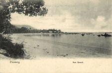 straits settlements, Malay Malaysia, PENANG, Sea Beach (1899) Postcard