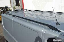 To Fit 02-14 Renault Trafic SWB Black Aluminium Roof Rails Rack Bars Steel Ends