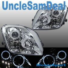 HONDA PRELUDE DUAL HALO RIMS ANGEL EYES CLEAR PROJECTOR HEADLIGHTS CHROME PAIR