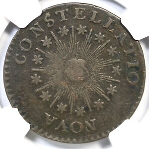 1785 C-2A R-4 NGC VF Details Sm Date, Point Rays Nova Constellatio Colonial Coin