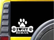 Animal Rescue Bone L049 8 Inch paw heartbeat dog decal