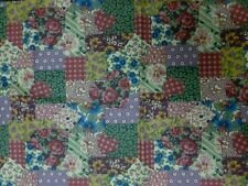 2 x Fat Eighths Country Rose Patchwork 100% Cotton Fabric (25cm x 56cm)