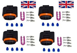 VW AUDI R8 TFSI Ignition Coil Coilpack Connector Set With Terminals 1J0973724 x4