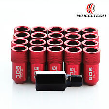 20pcs Red tuner M12x1.25 42mm for NISSAN INFINITI SUBARU SUZUKI Wheel Lug Nuts