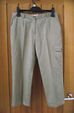 Anne Weyburn Khaki Cargo Trousers – Size 12
