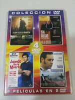 LOTE DE 4 PELICULAS DE CULTO EN 2 DVD russell crowe john cusack ESPAÑOL ENGLISH