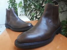 Church's Men's Brown Nevada Leather Chelsea Boots Ebony Size US 9 || UK 8 G