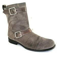 Cole Haan NikeAir Men's Size 9.5 M Gray Leather Side Zip Buckles Riding Boots
