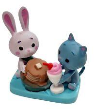 Puddles and Fun Bun with Pancake and Milkshake PVC Figure