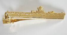 HMAS SYDNEY R17 VUNG TAU FERRY TIE BAR WITH GOLD PLATING 60MM LONG HIGH
