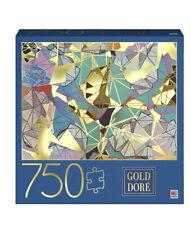 """Milton Bradley Gold Dore Geometric pattern 750 Piece Jigsaw Puzzle NEW 27""""x20"""""""