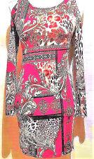 B5 Ladies Stunning Open Shoulder Long Sleeve Fashion Print Long Sleeve Red Dress