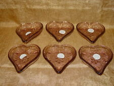 Set 24 Tiara Glass Embossed Valentine Heart Trays Vintage Home Interiors & Gifts