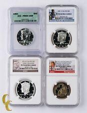 2001-S S50¢ PF70UCAM 1964 50¢ PR69DCAM 2014-S $1 PF70UCAM 2014-S S50¢ PF70UCAM