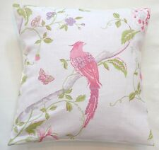 "16"" Laura Ashley 'Summer Palace' Cerise Floral Linen Mix fabric Cushion Cover"