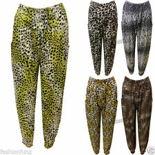 Polyester Harem Regular Size Low Rise Trousers for Women