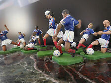 9 figurines équipe de France football championne du monde 1998