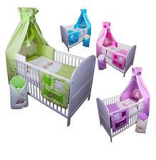 Baby Bettwäsche Himmel Nestchen Bettset MIT STICKEREI 100x135cm Neu für Babybett