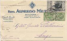 P8292   Bologna, Centenario Francescano c. 30 su c.commerciale, 1926