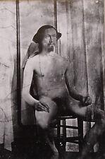 """NU MASCULIN monté vintage photo repro Imprimé, 10 x 8"""", 1850 gay interest NP02"""