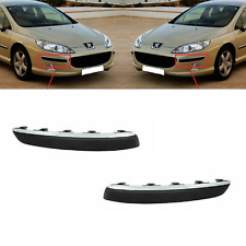 NEW PEUGEOT 407 2004-2010 SET FRONT BUMPER MOULDING TRIMS WITH CHROME LEFT RIGHT
