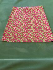 1b794299033f49 LILLY PULITZER Pink Green White Floral Pull on Skirt Sz med Cotton & Spandex