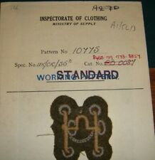 WW2 DATED AND MADE ORIGINAL SEALED PATTERN BADGE BIT ON CARD BACK