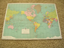 Vintage 1941 The World Map The equitable Life Assurance Society